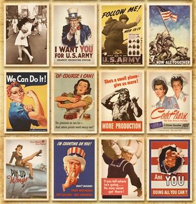Lot of 32 Retro 1940s Postcards Advertising Album Poster Old Greeting Post Cards