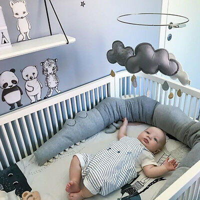 185cm Baby Crib Bumper Infant Cot Safety Protector Cushion Nursery Bedding Bed