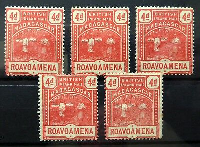 MADAGASCAR 1895 - 4d SG58 U/M with Small/Fault (£3 Each) SEE BELOW NF504