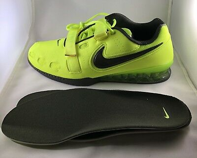 more photos ab4c4 4f107 NEW Nike Romaleos II 2 Mens Power Weight Lifting Shoe With Insoles Volt Size  15