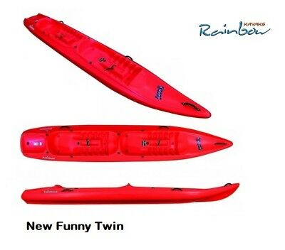 Rainbow new funny twin - canoa sit on top 2 posti 395 cm