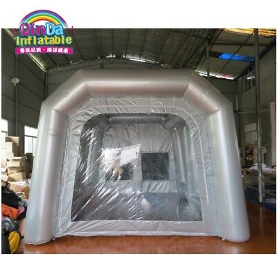 Inflatable Portable Car Spray Paint Booth Design With Filter  7m(L)*4m(W)*2.5...