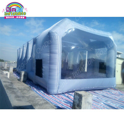 Portable Paint Booths Puzzle Inflatable Spray Booth For Car Painting 10m*5m*3.5m