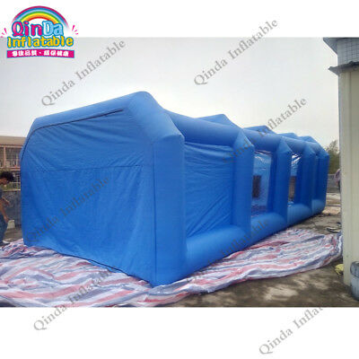 Inflatable Spray Booth Cube Car Spray folding Booth With Two Air Blowers 8m*4...