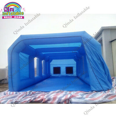 Spray booth inflatable cube tent car spray spray booth carbon filter 8m*4m*3m