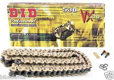 Did Heavy Duty X-Ring Motorcycle Drive Gold Chain 530 50 Vx 116 Links  D.i.d.