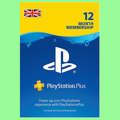 Playstation Plus Card Network 365 Tage 1 Jahr PSN PS+ PS4 PS3 PSP Code UK Store