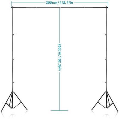 Neewer Background Stand Support System 2.6M x 3M8.5ft x 10ft Kit with Carrying