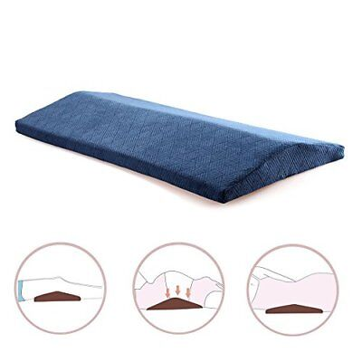 CompuClever Bed Sleep Wedge Pillow with Zipper Cover,Lumbar Support Pillow for L