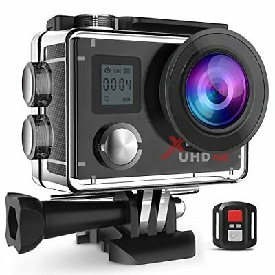 Campark Action Camera Waterproof 4K Wifi Sport Cam 2 LCD Screen 170 Wide Angle