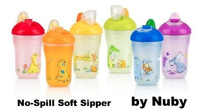 Nuby Insulated No-Spill Soft Sipper Sippy Cup 2-pack, 9oz, BPA Free Toddler/Baby