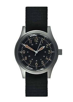 MWC A-17 | 1950's U.S Army Korean War Issue | 24 Jewel Automatic | Satin Silver