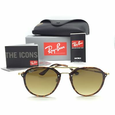 a3256af08f0 New Ray-Ban RB4292-N 710 13 Blaze Double Bridge Sunglasses Gradient Olive