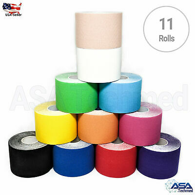 11 Rolls Kinesiology Tape Sports Muscles Running Care Elastic Physio Therapeutic