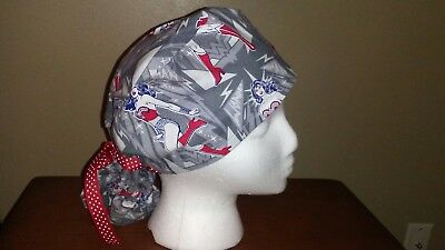 Wonder Woman Women's Ponytail Surgical Scrub Hat/Cap Handmade