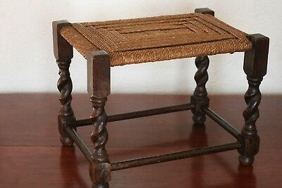 Vintage Small Oak Stool
