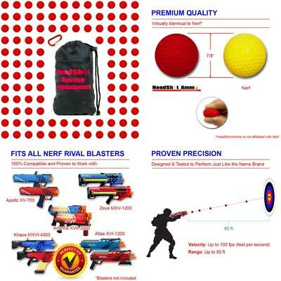 [110 Rounds] Nerf Rival Compatible Ammo By Headshot Ammo - Bulk Red Foam Bullet
