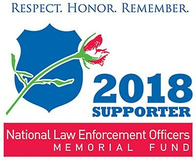 2018 National Law Enforcement Officers Memorial Fund Supporter Static Cling