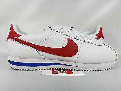 quality design c6437 5028c NIKE CORTEZ LEATHER FORREST GUMP RED WHITE BLUE 882254-164 8 STRANGER THINGS