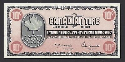"""AU"" Canada Canadian Tire Money 10 Cents ""LN2123736"", #106-3"