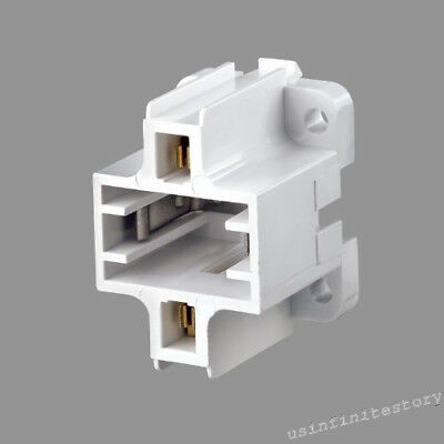 Leviton 26719-500 Compact Fluorescent Lampholder, Bottom Snap-In/Screw Down, Whi