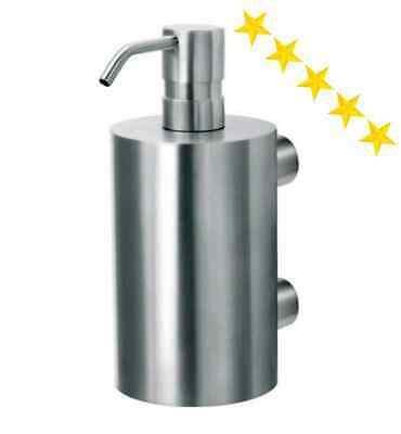 Large Soap Dispenser Wall Mounted Satin Stainless Steel 370ml/13oz