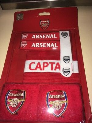 Arsenal Official Accessories Pack Sweat Bands Sock Ties