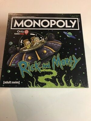 Monopoly Rick and Morty Exclusive Edition Containing 7 Tokens New & Still-Sealed