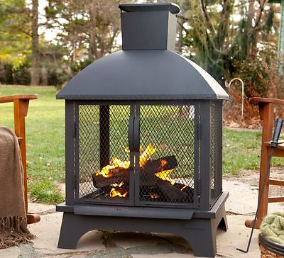 Wood Burning Fireplace Modern Outdoor Chimnea Fire Pit Portable Chimney