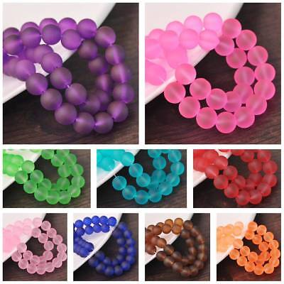 Jelly-Like Colors Coated Round Glass Loose Spacer Beads Lots 4mm 6mm 8mm 10mm
