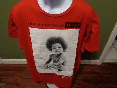 The Notorious BIG Biggie READY TO DIE Red T-Shirt SIZE  Men's 2XL