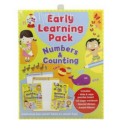 Early Learning LEARN TO WRITE NUMBERS Counting Wipe Write Board / Book Pack