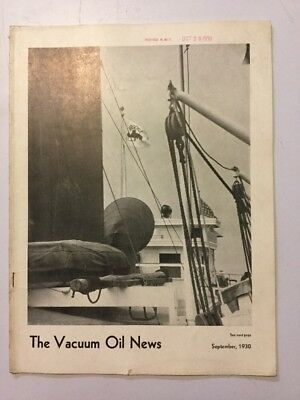VACUUM OIL NEWS SOCONY Mobiloil MOBIL OIL GAS NYC September 1930