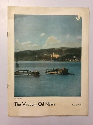 VACUUM OIL NEWS SOCONY Mobiloil MOBIL OIL GAS NYC August 1930