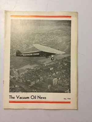VACUUM OIL NEWS SOCONY Mobiloil MOBIL OIL GAS NYC July 1930