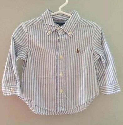 3 Baby Boy Button Up Shirts Ralph Lauren RL Polo Old Navy