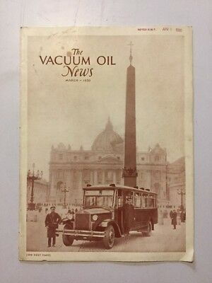 VACUUM OIL NEWS SOCONY Mobiloil MOBIL OIL GAS NYC March 1930