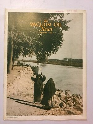 VACUUM OIL NEWS SOCONY Mobiloil MOBIL OIL GAS NYC February 1930