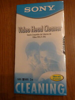 Sony T-6CLDL VHS S-VHS Video Head Cleaner 2002 Factory Sealed (B8)