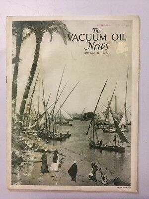 VACUUM OIL NEWS SOCONY Mobiloil MOBIL OIL GAS NYC November 1929