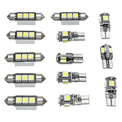 13X Car Interior LED Lights Bulbs Kit White For MK5 MKV Golf GTI 2003-2009 /E