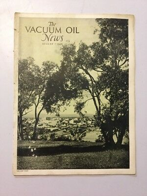 VACUUM OIL NEWS SOCONY Mobiloil MOBIL OIL GAS NYC August 1929