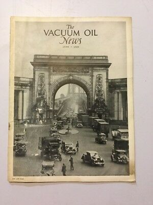 VACUUM OIL NEWS SOCONY Mobiloil MOBIL OIL GAS NYC June 1929