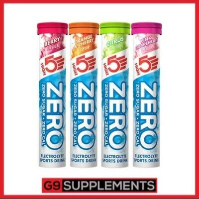 HIGH5 Zero 4 tubes X 20 = 80 tablets Hydration Drink Tablet HIGH5