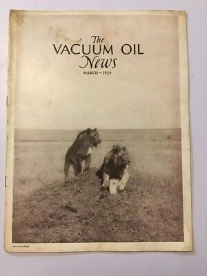 VACUUM OIL NEWS SOCONY Mobiloil MOBIL OIL GAS NYC March 1929