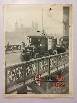 VACUUM OIL NEWS SOCONY Mobiloil MOBIL OIL GAS NYC February 1928