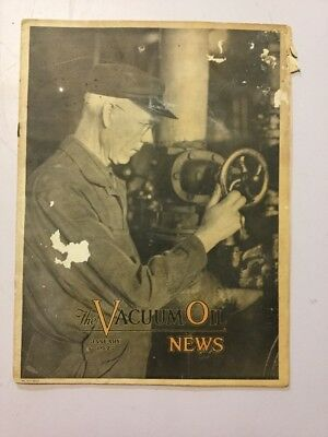VACUUM OIL NEWS SOCONY Mobiloil MOBIL OIL GAS NYC January 1927