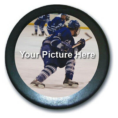 Lit biscuit lighted light up hockey puck 1599 picclick custom personalized hockey puck your custom photo printed here in full color mozeypictures Choice Image