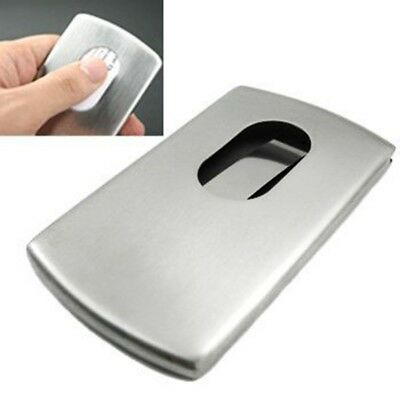 Wallet Business Name Credit ID Card Holder Case Stainless Steel