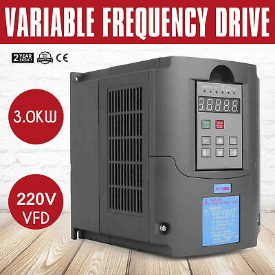 3KW 4HP 220V Single To 3 Phase Variable Frequency Drive Inverter VSD VFD AU